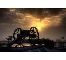 Cannon at Sunrise Photographic Print