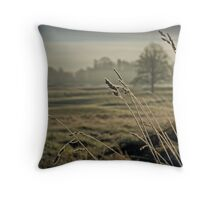 Frosted Grass Throw Pillow