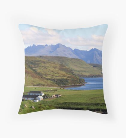Gesto Farm  and The  Cuillins Throw Pillow
