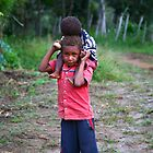 Village Kids, Laiagam, PNG by Erland Howden