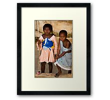 Gueckadou Girls Framed Print