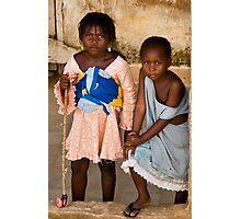 Gueckadou Girls Photographic Print