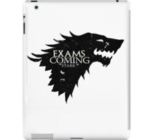 Exams are coming - Black iPad Case/Skin