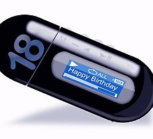 18th Birthday Card with MP3 player by Moonlake