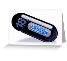 18th Birthday Card with MP3 player Greeting Card