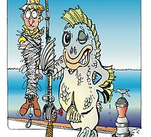 On the Bite  cartoon by Treg by Ken Tregoning
