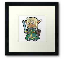 an Elf Framed Print
