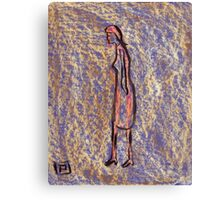 Figure of a girl with the least effort Canvas Print