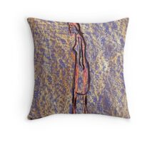 Figure of a girl with the least effort Throw Pillow