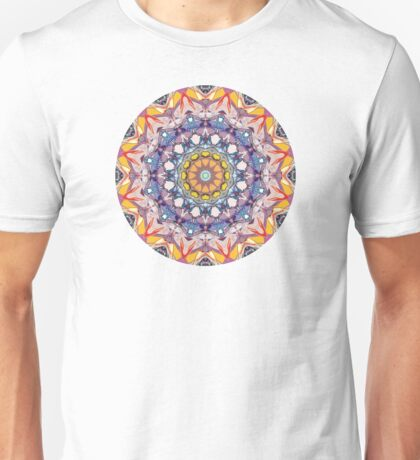 Abstract Concentric Mandala Unisex T-Shirt