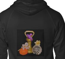 Old Brass Fruit and Flowers Zipped Hoodie