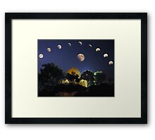 Lunar Eclipse Mosaic Framed Print