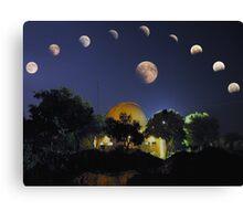Lunar Eclipse Mosaic Canvas Print