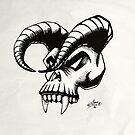 Devils skull by Per Ove Sleen