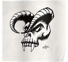 Devils skull Poster