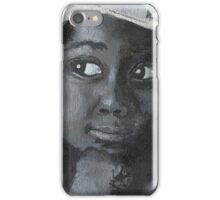 Little Black Girl Looking Through Window iPhone Case/Skin