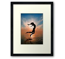 Over all the world Framed Print