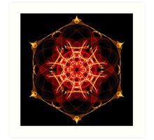 Energetic Geometry - Hexagon Mandala  Art Print
