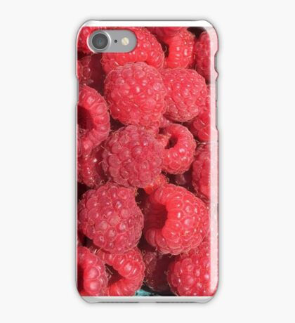 Plymouth Farmers Market Raspberries  iPhone Case/Skin