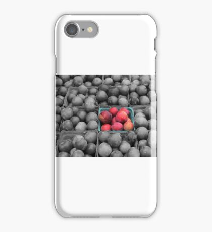 Plymouth Farmers Market Plums iPhone Case/Skin