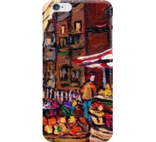 AUTUMN IN THE CITY CANADIAN PAINTINGS BEST AUTHENTIC ORIGINAL MONTREAL PAINTINGS iPhone Case/Skin