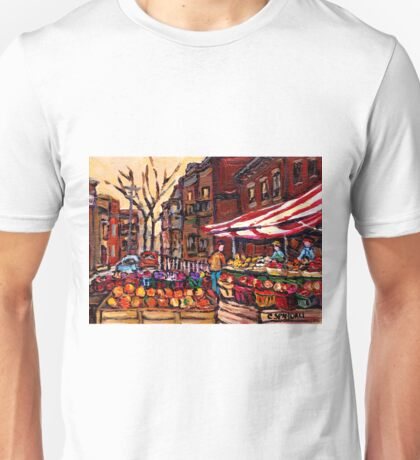 AUTUMN IN THE CITY CANADIAN PAINTINGS BEST AUTHENTIC ORIGINAL MONTREAL PAINTINGS Unisex T-Shirt
