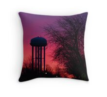 Twilight Water Tower Throw Pillow