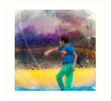 Walking In A Bubble Art Print