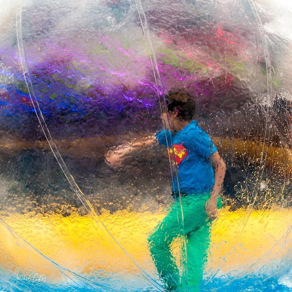 Walking In A Bubble by Michel Godts