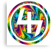 47 (4th and 7th Chakra) ACID LSD WARP Canvas Print