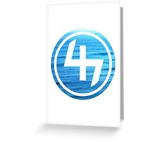 47 (4th and 7th Chakra) Ocean Water Waves Greeting Card
