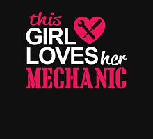 THIS GIRL LOVES HER MECHANIC Womens Fitted T-Shirt