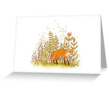 Fox and Flowers Greeting Card