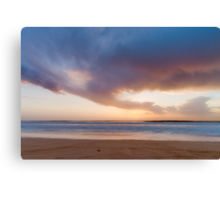 Sunset from the beach Canvas Print