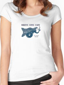 Siren's Cove Cafe' logo Blue Women's Fitted Scoop T-Shirt