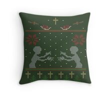 UGLY BUFFY CHRISTMAS SWEATER Throw Pillow