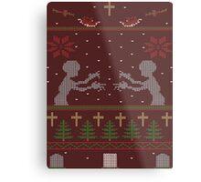 UGLY BUFFY CHRISTMAS SWEATER Metal Print