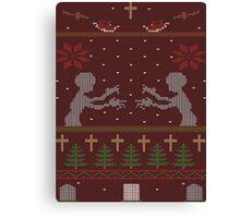 UGLY BUFFY CHRISTMAS SWEATER Canvas Print