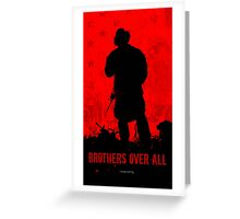 Red Flag- Brothers Greeting Card
