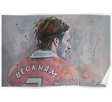 David Beckham - Portrait 2 Poster