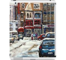 BEST AUTHENTIC ORIGINAL DOWNTOWN MONTREAL PAINTINGS RUE STANLEY CANADIAN ART iPad Case/Skin