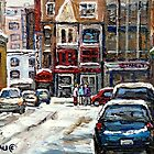 BEST AUTHENTIC ORIGINAL DOWNTOWN MONTREAL PAINTINGS RUE STANLEY CANADIAN ART by Carole  Spandau