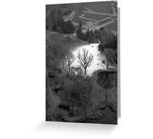white & black (Wien)  Greeting Card
