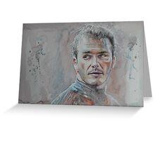David Beckham - Portrait 1 Greeting Card