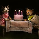 Cat - It's our birthday - 1914 by Mike  Savad