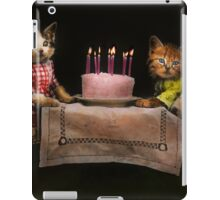 Cat - It's our birthday - 1914 iPad Case/Skin