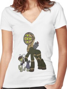 Big Daddy and little sister Women's Fitted V-Neck T-Shirt