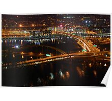 Pittsburgh's Fort Pitt and Fort Duquesne Bridges Poster