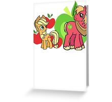 apple jack and big mac Greeting Card