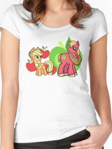 apple jack and big mac Women's Fitted Scoop T-Shirt